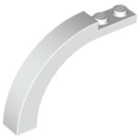 White Brick, Arch 1 x 6 x 3 1/3 Curved Top