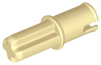 Tan Technic, Axle 1 with Pin without Friction Ridges Lengthwise