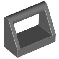 Dark Bluish Gray Tile, Modified 1 x 2 with Handle