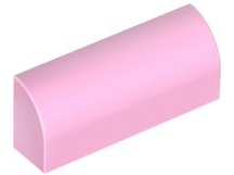 Bright Pink Slope, Curved 1 x 4 x 1 1/3