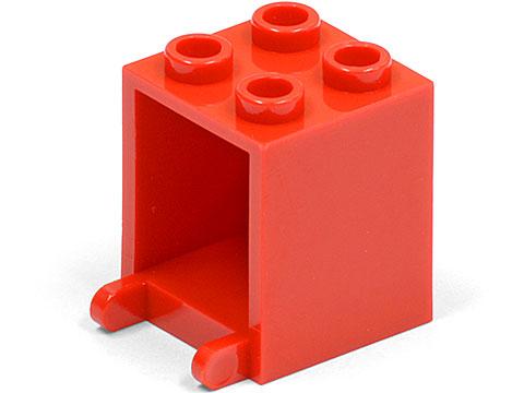 Red Container, Box 2 x 2 x 2