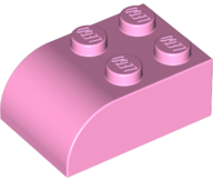 Bright Pink Brick, Modified 2 x 3 with Curved Top