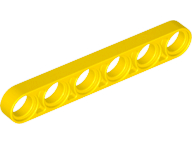 Yellow Technic, Liftarm 1 x 6 Thin