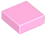 Bright Pink Tile 1 x 1 with Groove (3070)