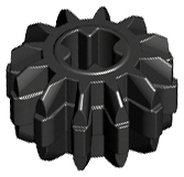 Black Technic, Gear 12 Tooth Double Bevel