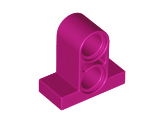 Magenta Technic, Pin Connector Plate 1 x 2 x 1 2/3 with 2 Holes (Double on Top)