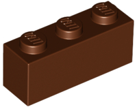 Reddish Brown Brick 1 x 3