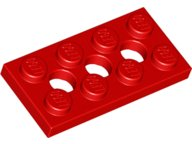 Red Technic, Plate 2 x 4 with 3 Holes