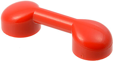Red Bar 1 x 3 with 2 Stud Receptacles (Radio Handle, Phone Handset)