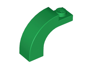 Green Brick, Arch 1 x 3 x 2 Curved Top