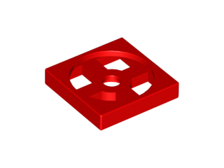 Red Turntable 2 x 2 Plate, Base