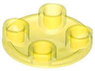 Trans-Yellow Plate, Round 2 x 2 with Rounded Bottom (Boat Stud)
