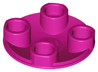 Magenta Plate, Round 2 x 2 with Rounded Bottom (Boat Stud)