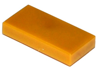 Pearl Gold Tile 1 x 2 with Groove