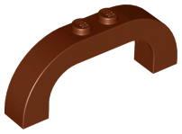 Reddish Brown Brick, Arch 1 x 6 x 2 Curved Top