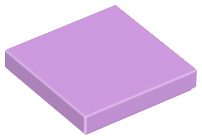 Medium Lavender Tile 2 x 2 with Groove
