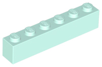 Light Aqua Brick 1 x 6