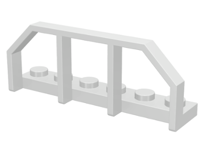 White Plate, Modified 1 x 6 with Train Wagon End
