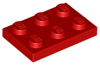 Red Plate 2 x 3