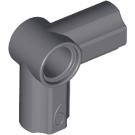 Dark Bluish Gray Technic, Axle and Pin Connector Angled #6 - 90 degrees