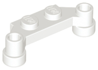 White Plate, Modified 1 x 4 Offset