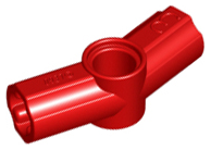 Red Technic, Axle and Pin Connector Angled #3 - 157.5 degrees