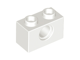 White Technic, Brick 1 x 2 with Hole