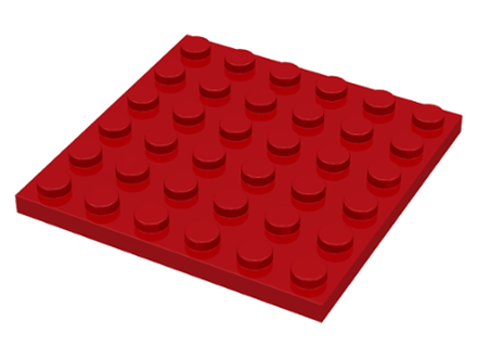 Red Plate 6 x 6