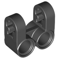 Black Technic, Axle and Pin Connector Perpendicular Double Split