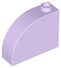 Lavender Brick, Modified 1 x 3 x 2 with Curved Top