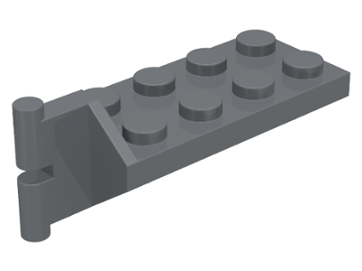 Dark Bluish Gray Hinge Plate 2 x 4 with Articulated Joint - Male