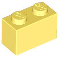 Bright Light Yellow Brick 1 x 2
