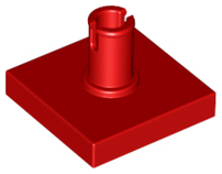 Red Tile, Modified 2 x 2 with Pin