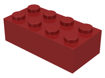 Dark Red Brick 2 x 4