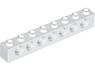 White Technic, Brick 1 x 8 with Holes