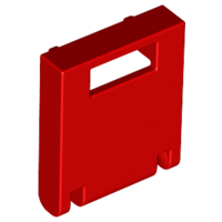 Red Container, Box 2 x 2 x 2 Door with Slot