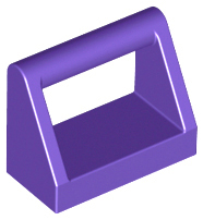 Dark Purple Tile, Modified 1 x 2 with Handle