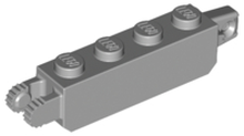Light Bluish Gray Hinge Brick 1 x 4 Locking with 1 Finger Vertical End and 2 Fingers Vertical End