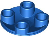Blue Plate, Round 2 x 2 with Rounded Bottom (Boat Stud)