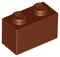 Reddish Brown Brick 1 x 2