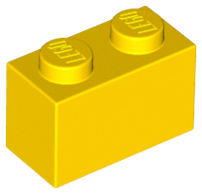 Yellow Brick 1 x 2