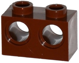 Reddish Brown Technic, Brick 1 x 2 with Holes