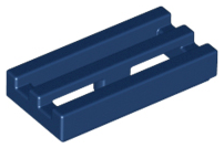 Dark Blue Tile, Modified 1 x 2 Grille with Bottom Groove / Lip