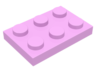 Bright Pink Plate 2 x 3