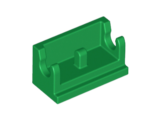 Green Hinge Brick 1 x 2 Base