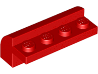 Red Slope, Curved 2 x 4 x 1 1/3 with Four Recessed Studs