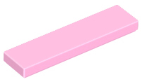 Bright Pink Tile 1 x 4