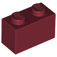 Dark Red Brick 1 x 2