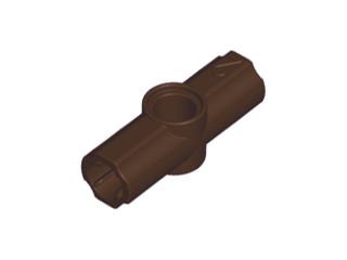 Dark Brown Technic, Axle and Pin Connector Angled #2 - 180 degrees