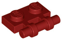 Dark Red Plate, Modified 1 x 2 with Handle on Side - Free Ends